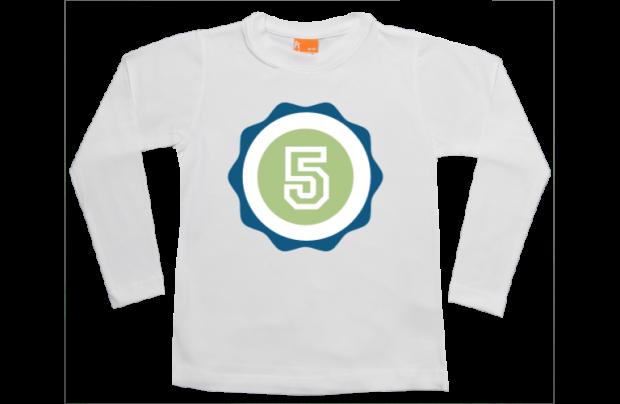 camiseta manga larga de niño: Numero y Letra