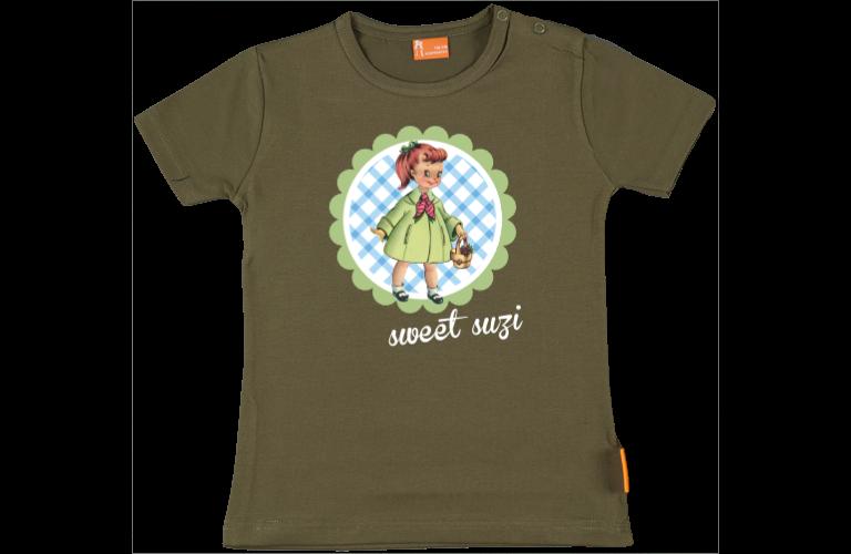 Canastilla Mas.Camiseta Bebe Chica Retro