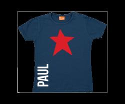 Camiseta Bebe: Estrella y nombre