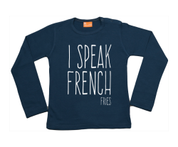 Niña camiseta manga larga: I Speak French Fries