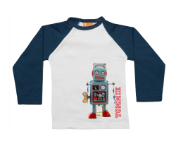 Camiseta Raglan: Robot