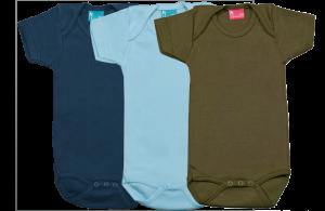 Set 3 bodys de manga corta: azul marino-celeste-verde
