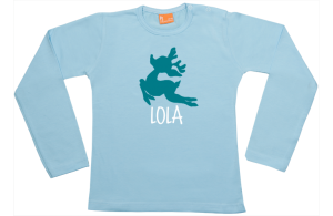 Camiseta bebe manga larga: Ciervo Volante