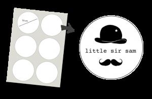 Pegatinas Redondas 6 unidades: Little Sir