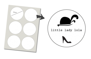 Pegatinas Redondas 6 unidades: Litle Lady