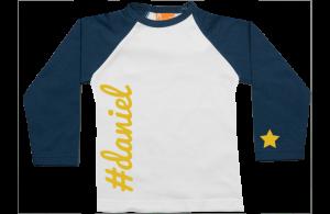 Camiseta Raglan: Twitter # Nombre