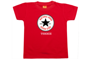 Camiseta niño manga corta: Natural Born Superstar