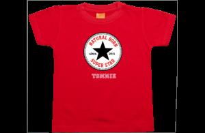 Camiseta niño manga corta: Natural Born Superstar