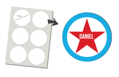 Pegatinas Redondas 6 unidades: Estrella