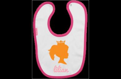 Babero: Princesa con coronita