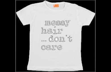 Camiseta Niña: Messy hair, don't care