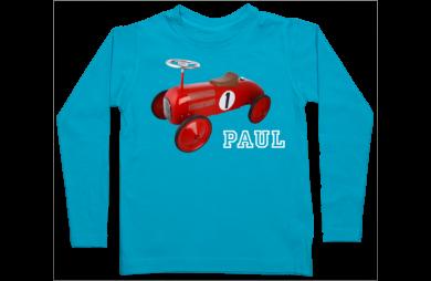 camiseta manga larga de niño: bicicleta de pie