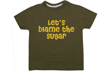 Camiseta niño manga corta: Culpamos el azúcar, vale!