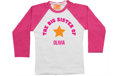 Camiseta Raglan: Hermana mayor