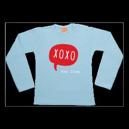 Meisjes t-shirt lang: Valentijn kusjes voor...