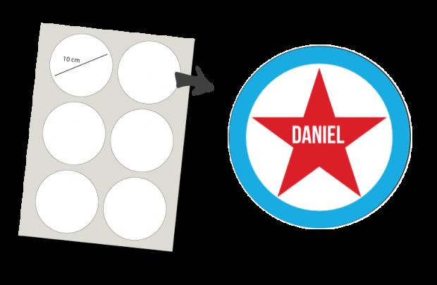 Stickers Rond 6 stuks: Ster