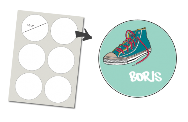 Stickers Rond 6 stuks: Gymp
