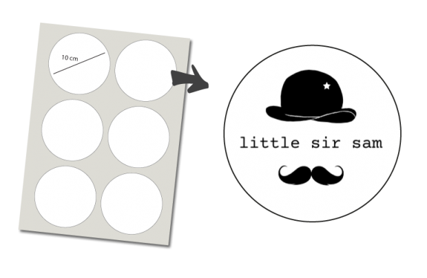 Stickers Rond 6 stuks: Little Sir
