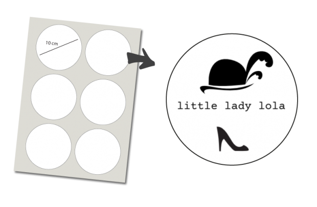 Stickers Rond 6 stuks: Little Lady
