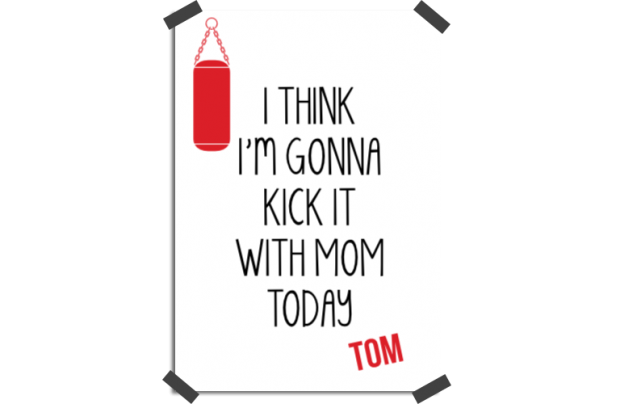Poster: Kick it with mom