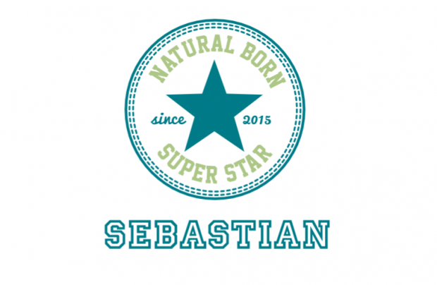Muur/Deur sticker Vierkant: Natural Born Superstar