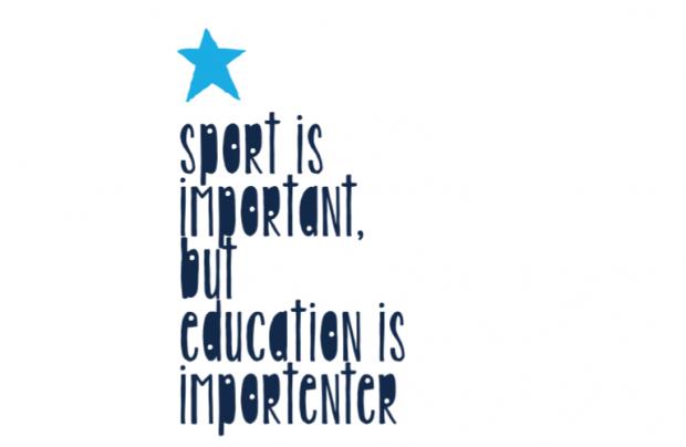 Muur/Deur sticker Vierkant: Sport importanter