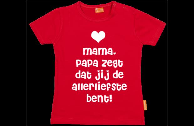 Valentijnsdag t-shirt: papa is verliefd