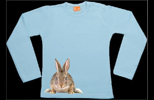 Meisjes t-shirt lang: Konijntje