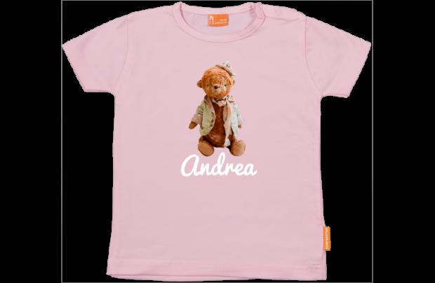 Meisjes t-shirt: Knuffelbeer met hoedje