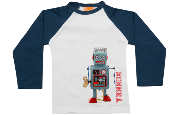 Raglan t-shirt: Robot