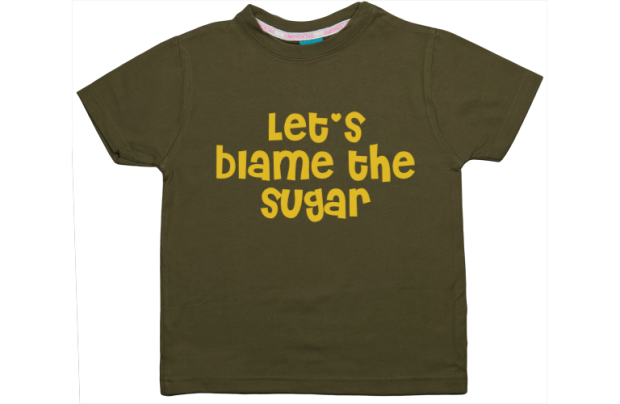 Jongens t-shirt: Let's blame the sugar