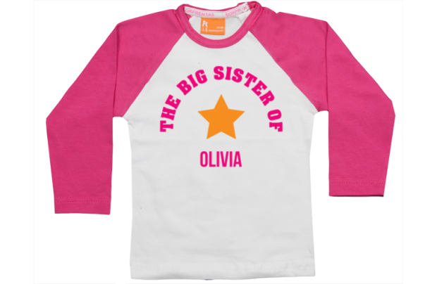 Raglan t-shirt: Big Sister