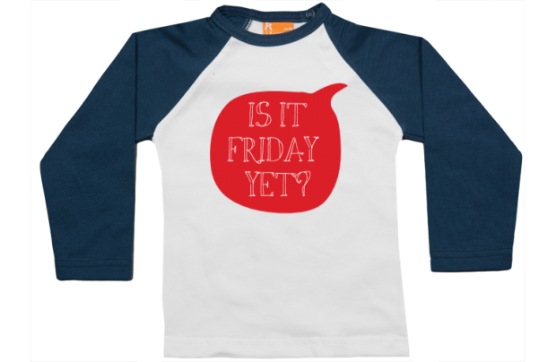 Raglan t-shirt: Is it Friday yet?