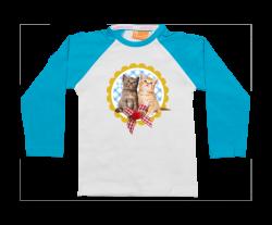 Raglan t-shirt: Twee poesjes