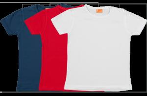 Set 3 Baby T-shirts Kort, rood-wit-blauw