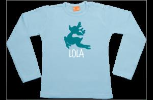 Baby t-shirt lange mouw: Vliegend Hertje