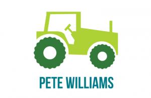 Muur/Deur sticker Vierkant: Tractor