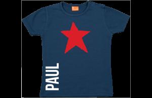Baby t-shirt: Ster met naam