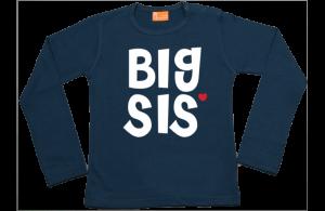 Meisjes t-shirt lang: Big Sis
