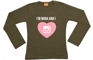 Meisjes t-shirt lang: Instagram