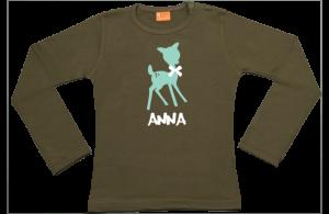 Meisjes t-shirt lang: Hertje