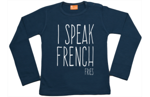Meisjes t-shirt lang: I speak French Fries