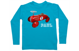 Jongens t-shirt lang: loopfiets