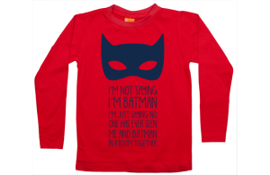 Jongens t-shirt lang: I am not Batman