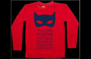 Jongens t-shirt lang: I am not Batman