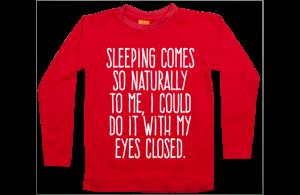 Jongens t-shirt lang: Sleeping is easy