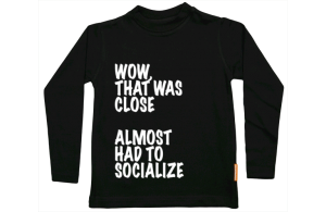 Jongens t-shirt lang: That was close....