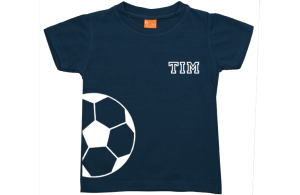 Jongens t-shirt: Halve voetbal en naam