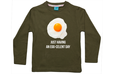 Jongens t-shirt lang: Having an egg-celent day