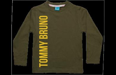 Jongens t-shirt lang: Naam vertikaal